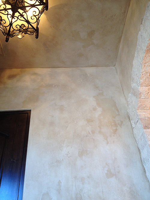 Aged Plaster Faux Finish in powder room