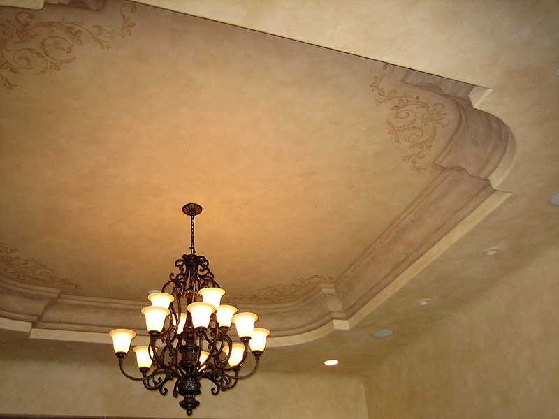 ceiling design and faux plaster crown