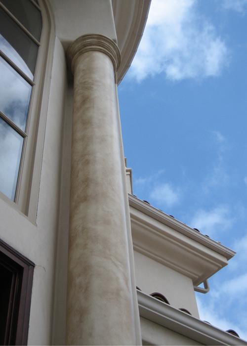 Exterior Faux Stone Column