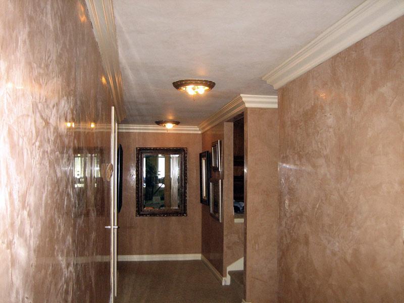 Polished Venetian Plaster hallway