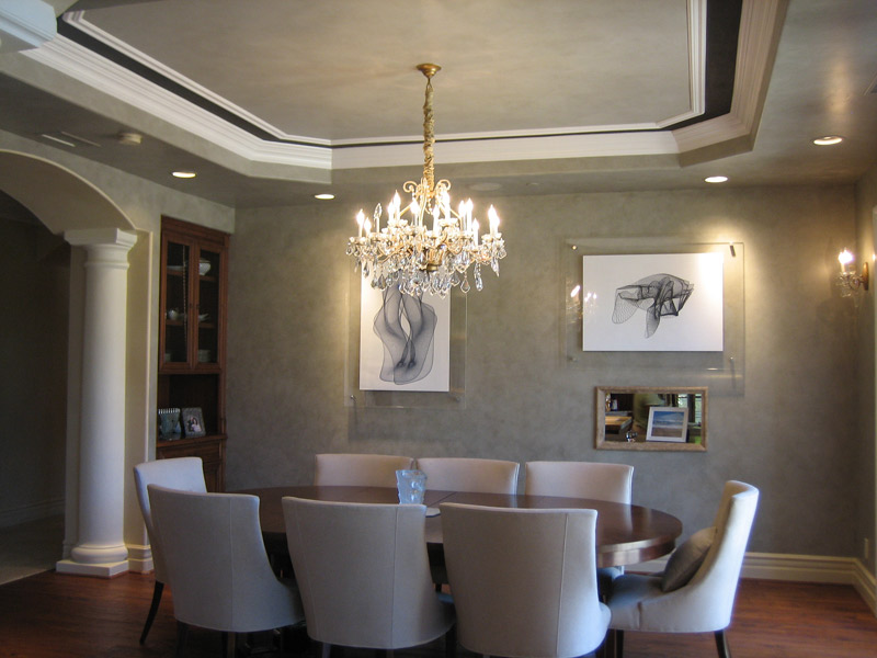 Contemporary Faux Finish Walls and ceiling