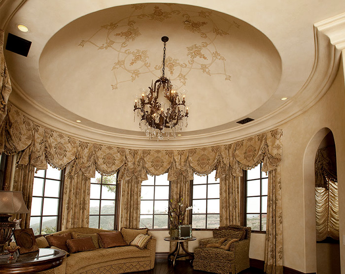 Hand painted dome design and faux finish.