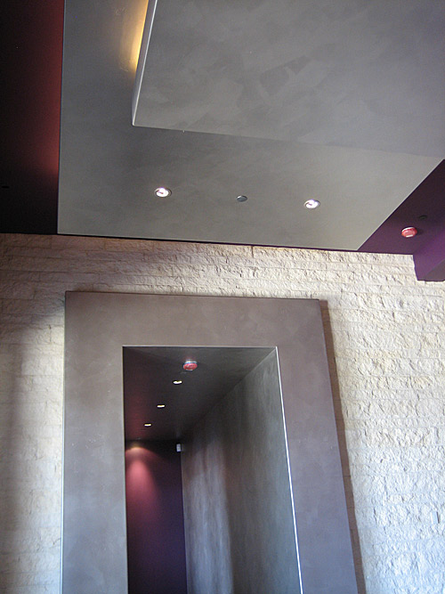 Brushed Silver Faux Finish in hall way.