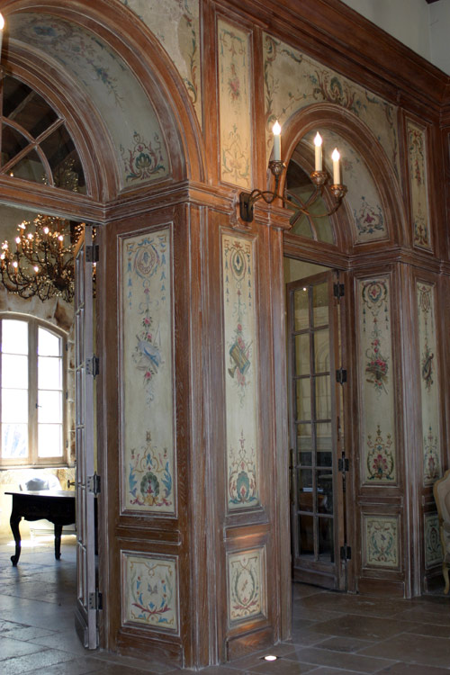 Custom Art and Design. French Chinoserie Panels in arch
